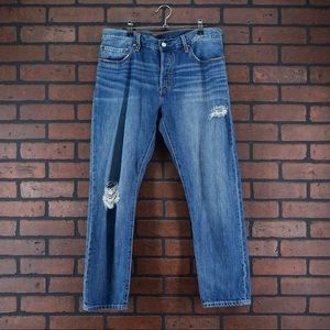LEVIS 501 Jeans Distressed Button Fly Size 31